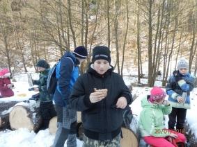 Lednový výlet turistů